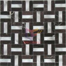 Black Marquina Stone Mix Metal mosaic (CFA37)