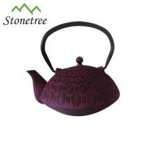 Hot Sale Wholesale Purple Enamel Teapot Cast Iron Kettle