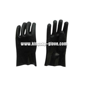 Gant industriel néoprène noir manchette de Guantlet (5341)