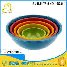 высокое качество практичный меламин, бамбук фрукты смешивания чаша комплект