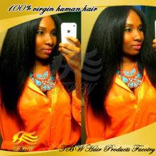 qingdao wholesale raw virgin brazilian hair yaki full lace wig silk top