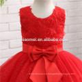 Vestidos del desfile de la belleza de los niños del color rojo para las muchachas Vestidos del desfile Vestido inflado de la muchacha de flor