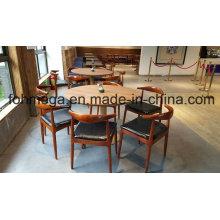6 Personen Runde Restaurant Tisch und Stuhl Möbel (FOH-RTC03)