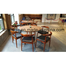6 Persons Round Restaurant Table and Chair Furniture (FOH-RTC03)