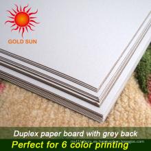 Papel dúplex de pasta mixta con respaldo gris para impresión
