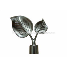 Customized High quality decorative curtain rods leaf finial
