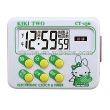 Temporizador digital de memória com ímã, temporizador de contagem regressiva da cozinha CT-136