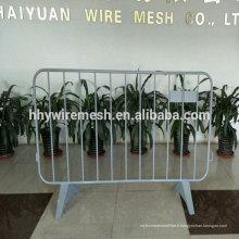 barrière de barrière de haute qualité usine de clôture temporaire ISO9001 barrière de trafic