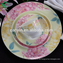 Keramik Rosa Türkei Blume Bedruckte Suppe Platte