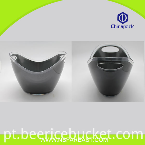 Quality assurance hot selling colorful popular cheap clear plastic ice buckets wholesale