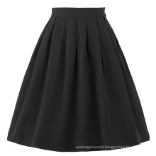 Belle Poque Stock Cotton Spandex Black Vintage 50s Retro Dress Skirt BP000154-1