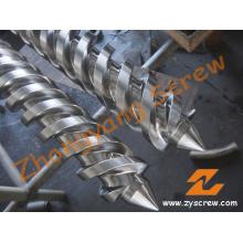 Twin conique vis Canon pour l'Extrusion de tubes (ZYT374)