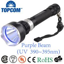 10W Lanterna Ultravioleta XPE Luz Roxa 395nm Underwater 50m UV Diving Lanterna Tocha