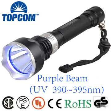 390 395nm UV Lamp LED Submarine Diving Flashlight Blacklight Underwater Torch