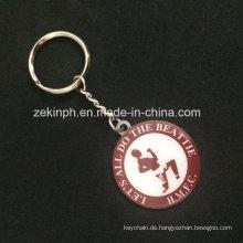 Günstige Promotional Souvenir Metall Schlüsselanhänger mit Logo gedruckt