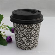 Copos de papel quentes descartáveis baratos impressos logotipo do café