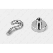 Ni Plated Permanent Neodymium Hook Pot Magnet