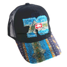 Punto de contraste lavado que enlaza la gorra de béisbol del deporte del bordado