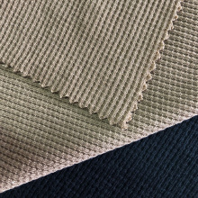 Dyed Style Polyester Cotton Waffle Jersey Embroidery Fabric