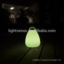 décoration moderne RVB couleur changeante poignée lanterne led lampes luminaire portatif lampe de table