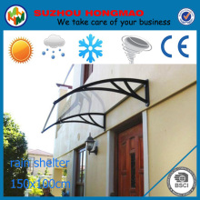 transparent plastic awning and canopies for UV protection