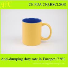 Großhandel 11oz Glasur Keramik Becher mit Griff für Kaffee