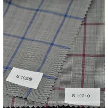 Neue Ankunft beliebte Glen Check Kammgarn 70% Wolle 30% Polyester Stoff für Anzug