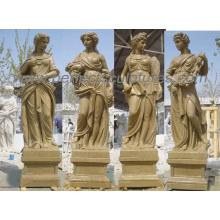 Pedra de jardim Escultura de quatro estações com mármore de arenito (SY-X1128)