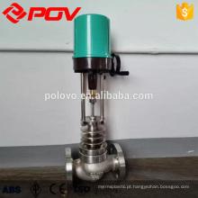 válvula de regulação elétrica do tipo eletrônico com padrão flangeado
