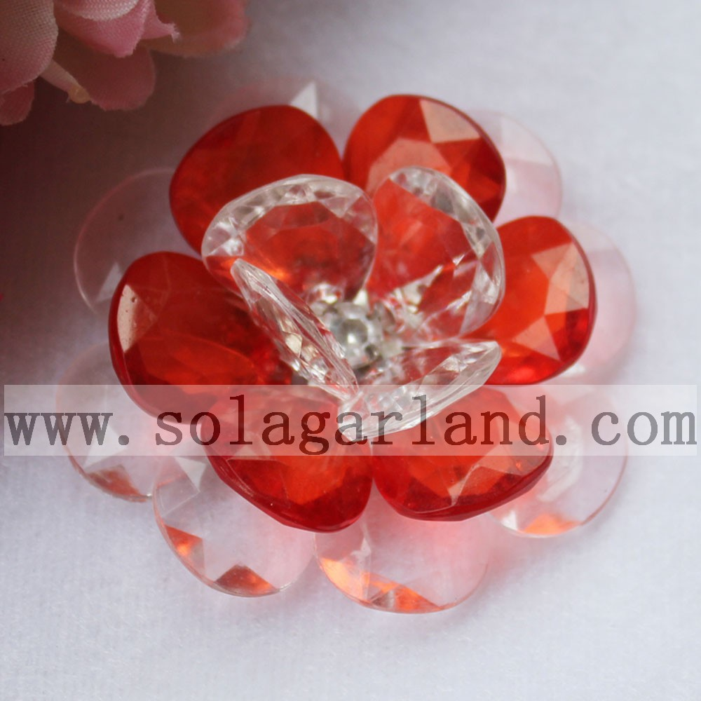 54MM Handmade Crystal Bead Flower