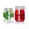 Hermetic Glass Storage Jar with Metal Clip, Honey Jar Glass, Glass Cookie Jar