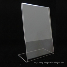 L-Shape Clear Acrylic Menu Holder, Simple Acrylic Menu Display