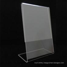L-Shape Clear Acrylic Menu Holder, Simple Acrylic Menu Display