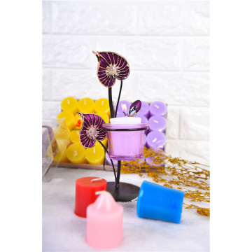 Colored Flat Top Votive Candle for Wedding