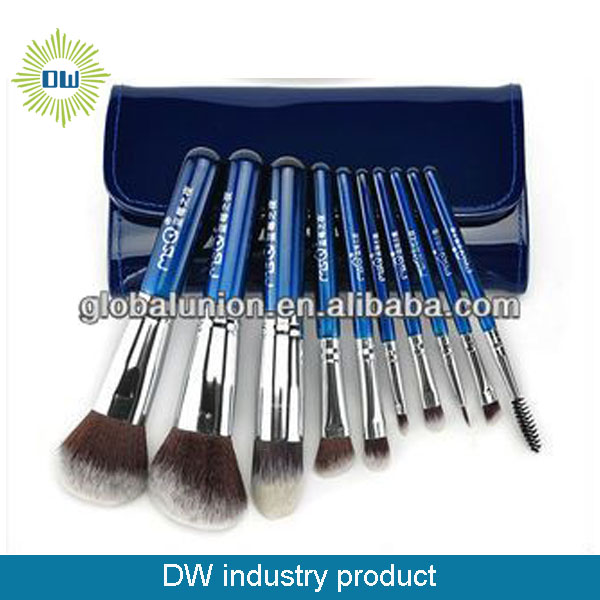 new arrivals blueberry nights customized 10pcs cosmetic brushes1