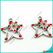 Estrela de cristal encantos pingente atacado (MPE)