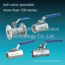 Válvula de bola de acero inoxidable 1PC Dn50