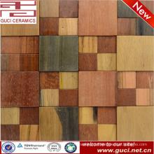 rustic design Solid wood look tile kitchen mosaic tile decoration