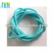 cordon en daim plat, pour les bijoux cordon de suède faux bleu ciel SJW014