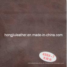 Marrom de alto grau sofá material Semi PU couro