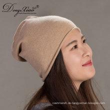 Frauen Winter benutzerdefinierte stricken koreanische häkeln gestrickte Cashmere Beanie Cap Hut