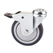 Roulette à lumière légère à 100 mm TPR avec frein