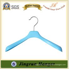 Crochets métalliques en plastique bleu pour manteau