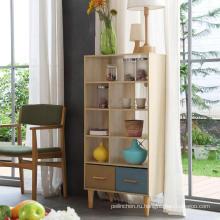 SMT Дуб 4 полки Книжная полка Современный книжный шкаф Дисплей Полка для хранения Шкаф для гостиной, домашнего офиса, спальни