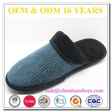 New design soft fleece lined winter indoor man slipper