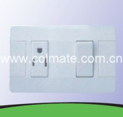 American Type One Gang Electrical Wall Switch and Socket