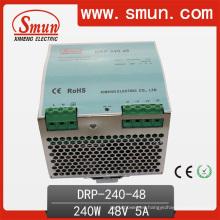 Fuente de alimentación de la transferencia del Pfc del carril DIN de la salida única de 240W 12V / 24V / 48V