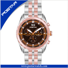 OEM & ODM Sports Wristwatches with IP Rosegold Plating