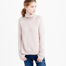 Frauen-Pullover 100% Kaschmir gestrickt Rollkragen schlank passende weiche warme Pullover für den Winter / Herbst