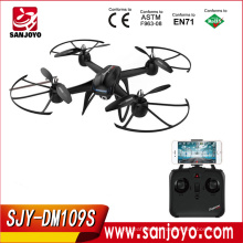 Long flying time rc drone DM109S barometer set height with 2mp wide angle wifi servos camera can control Up Or Down SJY-109S